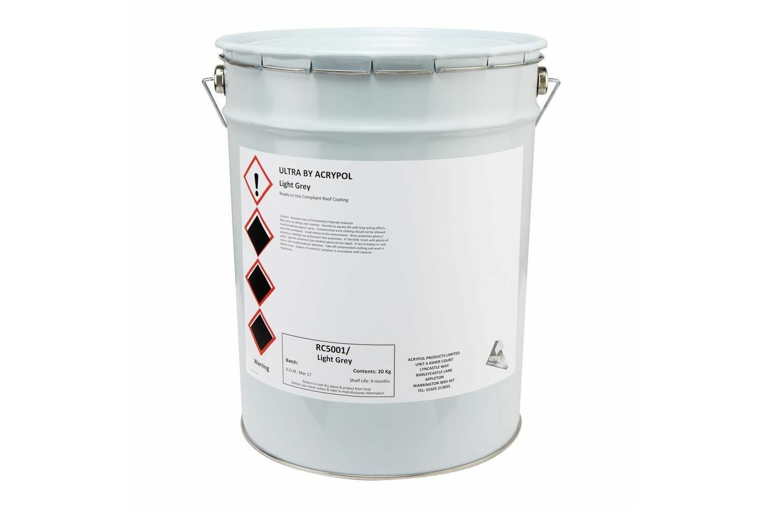 Acrypol Ultra by Acrypol 20kg Whole Roof Long Term Waterproof Roof Coating