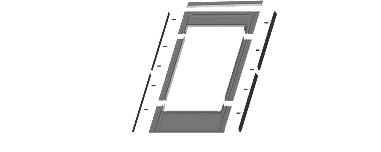 Slate profile Fakro Flashing 550 x 780 01 ELV
