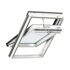 Velux White Polyurethane Centre Pivot Integra Electric Roof Window - GGU 006021U