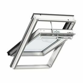 Velux White Painted 15 Degree Centre Pivot Integra Solar Roof Window - GGL 207030
