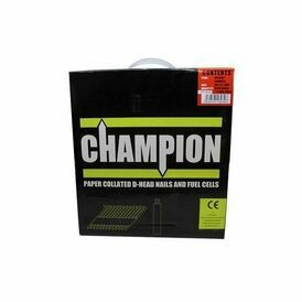 Champion 90mm x 3.1mm Electro Galvanised Smooth Shank Nails (1100 Nails & 1 Fuel Cell)