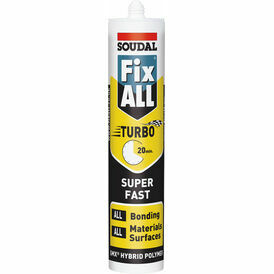 Soudal Fix ALL Turbo Sealant & Adhesive (White) - Box of 12