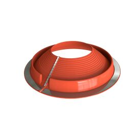 Dektite Retrofit Roof Pipe Flashing - Red Silicone (50 - 185mm)