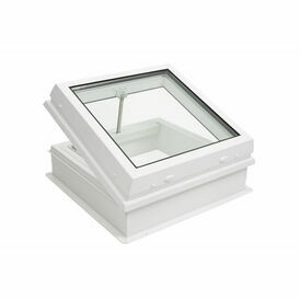 RX S5 Raylux Glass White Rooflight (Electric) - 700 x 700mm (150mm Upstand)