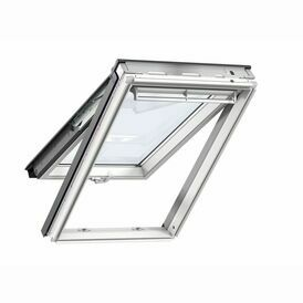 Velux Top Hung GPL S10L01 Roof Window and Duo Blackout Blind Bundle for Slate