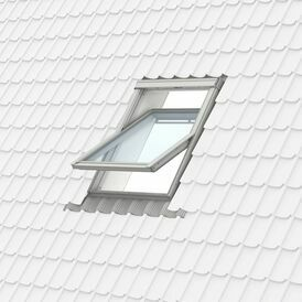 Velux White Paint 114x70 Centre Pivot 70Q Pane Roof Window - GGL 2070Q