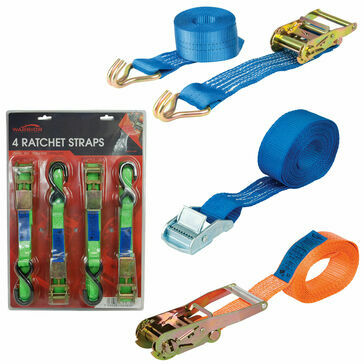 Olympic Fixings Blister Pack Ratchet Strap 25mm x 5m x 750kg