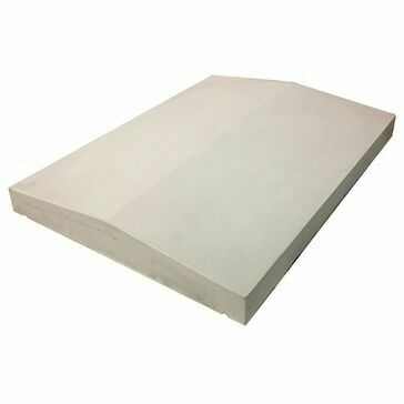 Concrete Twice Weathered Coping Stone - Light Grey (450mm x 600mm)