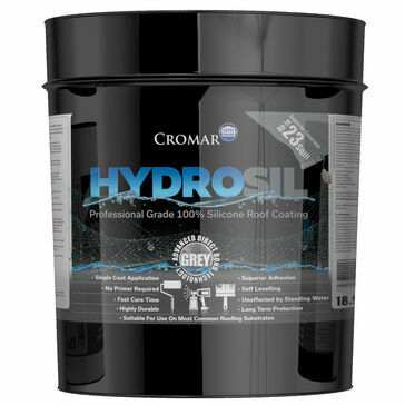 Cromar Hydrosil ProGrade Liquid 100% Silicone Roof Coating Grey