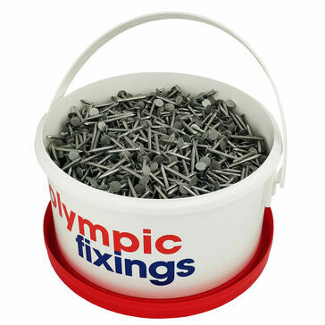 Olympic Fixings Galvanised Clout Nails (3kg Tub)