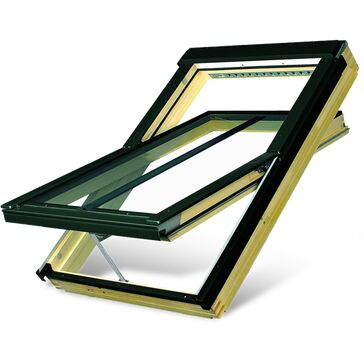 FTP-V/C P2 Z-Wave Natural Pine Double Glazed Conservation Roof Window