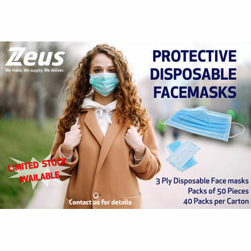 Protective Disposable Face Masks - ECM certified /3 Ply (Pack of 50)