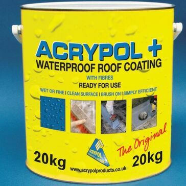 Acrypol + Waterproof Roof Coating With Fibres Black 5kg (4 x 5kg)