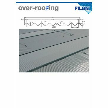 Filon Over-Roofing BIG 6 Profile - Profix 60 Spacer OPDR30E SAB Class 3 (Price listed per linear metre)