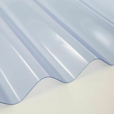 Mistral Big6 Corrugated Clear PVC Roof Sheeting - 3050mm x 1086mm x 1.3mm