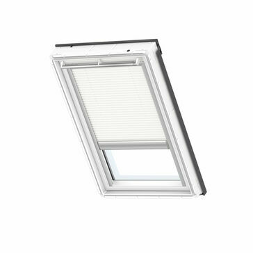 VELUX FMC 1045S Electric Pleated Blackout Energy Blind - White