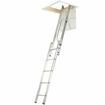 Werner Aluminium Loft Ladder - With Handrail