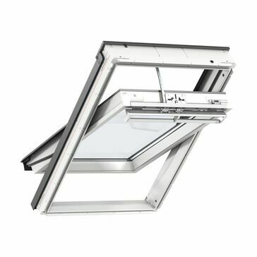 Velux White Polyurethane Centre Pivot Integra Solar Roof Window - GGU 6030