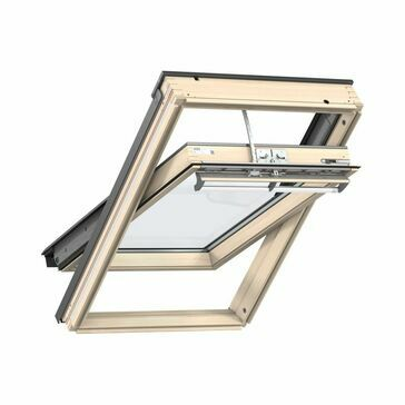 Velux Lacquered Pine Centre Pivot Integra Electric Roof Window - GGL 307021U