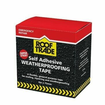 RoofTrade Self Adhesive Weatherproofing Tape (4m x 75mm)