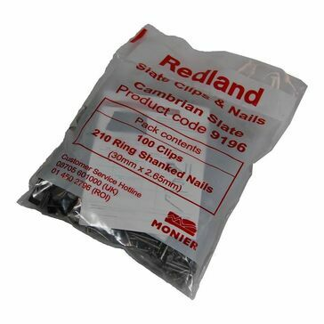 Redland Cambrian Slate Clip & Nail (Pack of 100 Clips & 20 Nails)