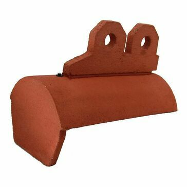 Redland 3 Hole Crested Half Round Block End Ridge Terracotta