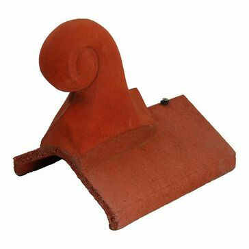 Redland Scroll Universal Angle Finial Terracotta