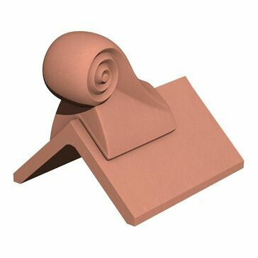 Marley Clay Scroll Roof Finial - 305mm