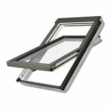 Fakro FTU-V P2 09 White Polyurethane Coated Centre Pivot Window (94cm x 140cm)