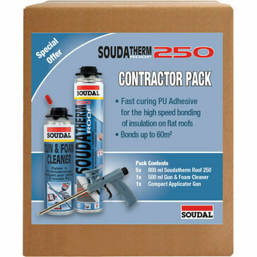 Soudal Soudatherm Roof 250 PU Foam Insulation Adhesive - Contractor Pack