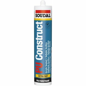 Soudal PU Construct Extra Fast - PU Gel Adhesive - Box of 12