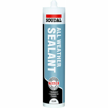 Soudal All Weather Sealant Clear - Box of 12 (116727)