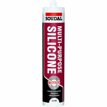 Soudal Multi-Purpose Silicone (Clear) - Box of 12 (121644)