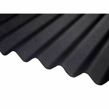 Ventura - Black Corrugated Bitumen Sheet 2000mm X 930mm