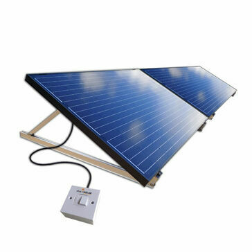 Plug-In Solar 750W DIY Solar Power Kit with Adjustable Ground Mounts
