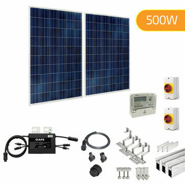 Plug-In Solar 500W New Build Developer Solar Power Kit for Part L Building Regulations