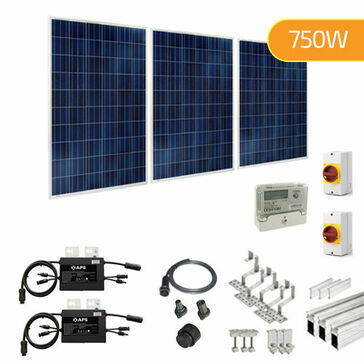 Plug-In Solar 750W New Build Developer Solar Power Kit for Part L Building Regulations