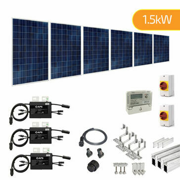 Plug-In Solar 1.5kW (1500W) New Build Developer Solar Power Kit for Part L Building Regulations
