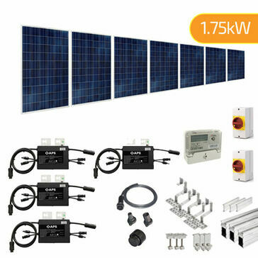 Plug-In Solar 1.75kW (1750W) New Build Developer Solar Power Kit for Part L Building Regulations