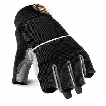 Scruffs Max Performance Fingerless Gloves - Size 10 (Black/Grey)