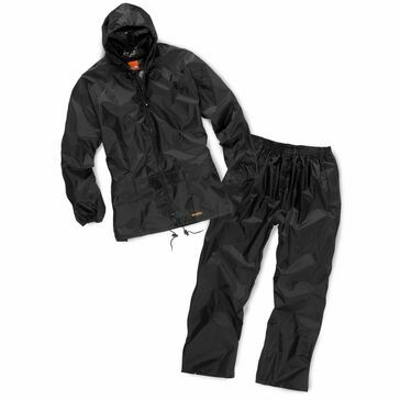 Scruffs Waterproof Rainsuit (Black)