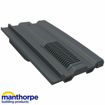 Manthorpe GTV-MC Mini Castellated Vent - Slate Grey