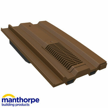 Manthorpe GTV-MC Mini Castellated Vent - Dark Brown