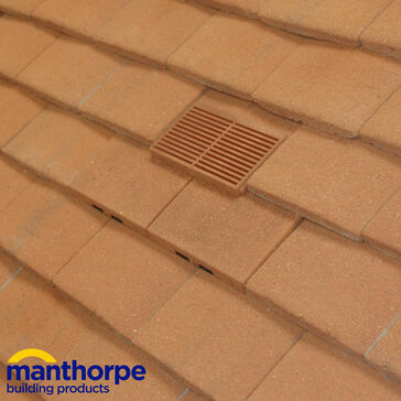 Manthorpe GTV-PT-GRAN Granulated Plain Tile Roof Vent - Sand Red