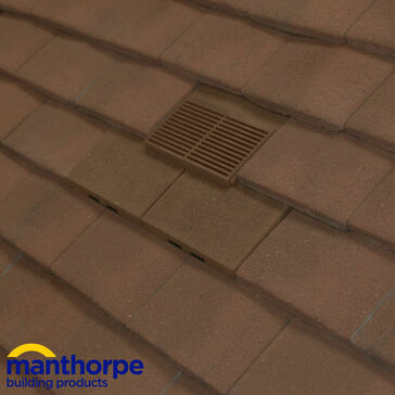 Manthorpe GTV-PT-GRAN Granulated Plain Tile Roof Vent - Antique Brown