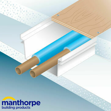 Manthorpe GW511 Pipe & Cable Ducting 123mm x 12mm x 2.44m - Pack of 10