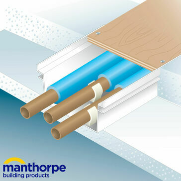 Manthorpe GW531 Pipe & Cable Ducting 146mm x 12mm x 2.44m - Pack of 10