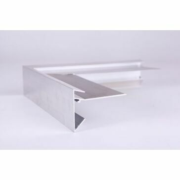 Aluminium Roof Edge Trim - 200mm x 200mm x 45mm