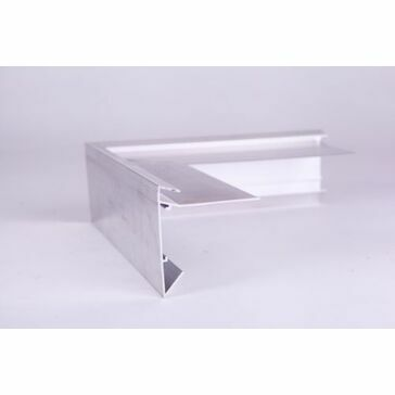 Aluminium Roof Edge Trim - 200mm x 200mm x 64mm