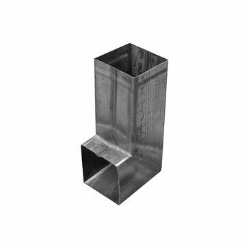 Stainless 80x80mm Downpipe - Shoe